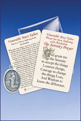 Serenity Prayer on one side A short history of the life of Matt Talbot on the other side