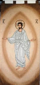 Byzantine Risen Christ Wall Banner