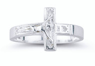 Sterling Silver Crucifix Ring. Comes is a deluxe velour gift box. Available in Sizes 5-12. Limited Lifetime Guarantee from defects in material and workmanship