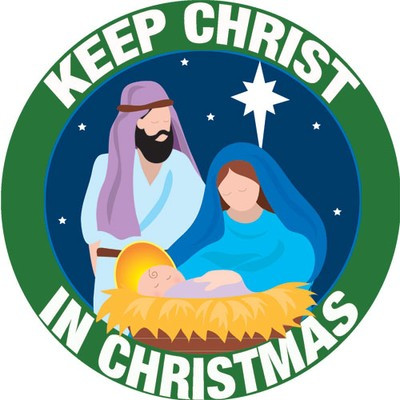 Keep Christ In Christmas Car Magnet