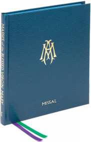 This Roman Missal for the Masses of the Blessed Virgin Mary contains the Eucharistic Prayers, so that no other book is needed to celebrate these 46 Masses in honor of the Blessed Virgin. Includes useful, functional tabs for the Ordinary of the Mass, ribbon markers, and liturgical drawings that introduce each main section. The Roman Missal for the Masses of the Blessed Virgin Mary is printed in two colors in large, easy-to-read 14-pt. type and attractively bound in durable blue cloth. 272 pages