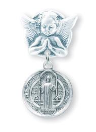 St. Benedict Baby Angel Pin1677