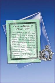 Christmas Novena Prayer and Charm Pocket