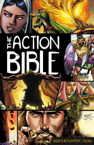 A wonderful way for young people to experience the Bible in a new way!. Featuring comic-book style storytelling, this dynamic duo communicates God's Word to today's visually focused culture. Includes 215 chronologically ordered stories with dramatic shading and energetic characters. 52 weeks of devotions with action-adventure activities, spiritual lessons, scriptural truths, and more.