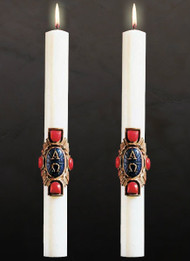 Paschal Candle, Christ Victorious Altar Candles