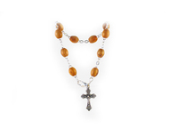 One Decade Chaplet made of Olive Wood Beads