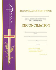 Certificates of Reconciliation Banner Style