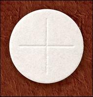 "1 1/8"" White Altar Bread (Wafer w/ Cross Design)"