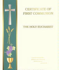 Pre printed Certificates of First Communion, Banner Syle