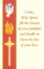 Confirmation Holy Card, Banner Style
