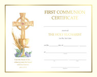 Pre printed Communion Certificate, Spiritual Collection