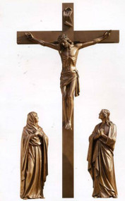 """72"""" Life of Christ Crucifixion Group. Available in carved Linden Wood, Bronze, Marble, or Fiberglass. Please call 1.800.523.7604 for pricing"""