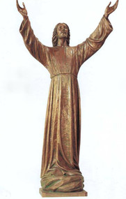"""Christ of the Deep"". 66"" or 82"" Life of Christ Statue. Available in carved Linden Wood, Bronze, Marble, or Fiberglass.Please call 1.800.523.7604 for pricing"