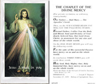 Divine Mercy Paper Holy Card