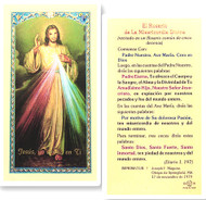 El Rosario de la  Misericordia Divina, Laminated Holy Card