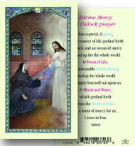 3 O Clock Prayer Laminated Holy Card