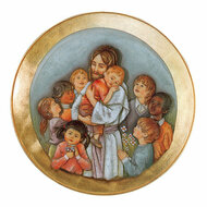 Jesus with Kids Medallion 100/61