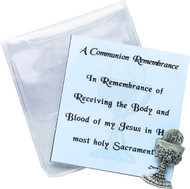 Holy Communion Chalice Pocket Token and Prayer Card