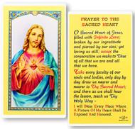 Sacred Heart of Jesus Laminated Holy Card