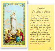 Our Lady of Fatima Laminated Holy Card