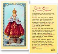 Infant of Prague Novena Laminated Holy Card