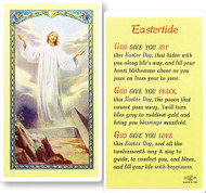 Eastertide, Joy, Love, and Peace Laminated Holy Card