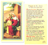St. Anne, Prayer to Obtain Favors Laminated Holy Card