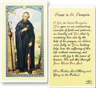 St. Peregrine, Patron Saint of Cancer Laminated Holy Card