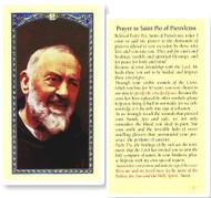 Padre Pio Laminated Holy Card