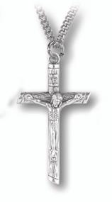 Log Shaped Crucifix Pendant