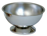 "Stainless Steel Baptismal  Bowl. Dimensions: 8"" Diameter, 4"" Height, 4 1/4"" Base"