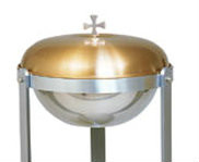 """Individual Parts and extra items for Baptismal Font K300.  Satin Bronze Cover or Polished Brass cover or Stainless steel bowl ~ 13-1/4"""" dia. x 5-1/2""""Height.  Items are extra pieces for Baptismal Font #300"""