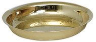 """Highly Polished Baptismal Bowl. 10"""" Diameter, 1 7/8"""" Height. Available in Brass, Stainless Steel, 24K Gold Plate or Silver Plate"""