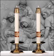 Paschal Altar Candles ~ Luke 24