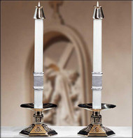 "The ""Way Of The Cross""™ altar candles are 51% beeswax. These altar candles complement Paschal Candle ""The Way of the Cross"""