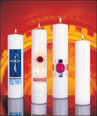 Radiance, Holy Trinity, Anno Domini, Cross of St. Francis & Plain Christ Candles are used generally during Advent but also when there is a small spiritual gathering, such as a prayer group, scripture study etc.