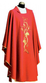 Chasuble 300, Misto Lano Fabric, Wool/Polyester Blend, Square Collar