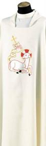 Dalmatic 738, Primavera Fabric, 100% Polyester, Plain Neckline