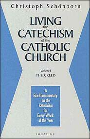 Volume 1 (of 4 Volumes), The Creed.  Cardinal Schonborn, the editor of the monumental Catechism of the Catholic Church, a worldwide best seller, provides a brief and profound commentary on the first part of the Catechism, the Creed. Schonborn gives an incisive, detailed analysis of the Creed, providing a specific meditation for each week of the year on how to better live the Catholic faith as expressed in the Creed and explained in the Catechism. Through these 52 meditations, Schonborn's hope is for the reader to not just have a better grasp of Catholic doctrine and belief, but especially to grow in a greater love of and devotion to the person of Jesus Christ. Also available are Volumes 2,3 & 4.