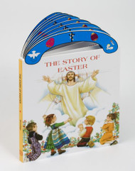 "Ideal book for young children. A sturdy book that will stand up to wear and tear,it provides clear, simple text to introduce children  events surrounding the death and Resurrection of Jesus. With full-color illustrations and a ""carry-along"" handle. Dimensions: 6"" x 8 1/2"" ~ 16 pages"