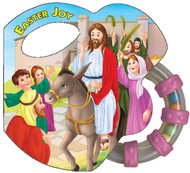 "This is part of a new series of books that combines a rattle with a small board book to appeal to God's littlest ones. The playful illustrations in Easter Joy will delight little eyes as they see the Easter Story come to life in bright and vivid colors. The soft sound of the rattle will keep the little ones enthralled and smiling. Hardcover ~ 14 pages ~ 5"" x 4 3/4 """