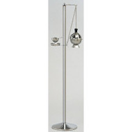 "Censer Stand with circular base. Stainless steel. 50"" height, 10 1/2"" base"