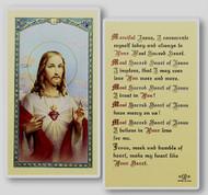 Sacred Heart of Jesus 156 Laminated Holy Card
