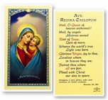 Ave Regina Caelorum, Good Counsel Laminated Holy Card