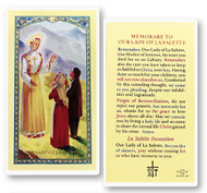Memorare to Our Lady of La Salette Laminated Holy Card