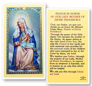 Mother of Divine Providence, Prayer in Honor of, Laminated Holy Card