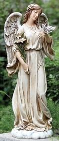 24.5inch Angel With Dove Garden Angel
