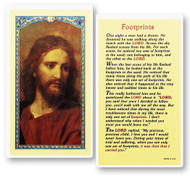 Footprints Prayer, The Head of Christ Laminated Holy Card