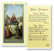 The Last Supper Meal Prayers Laminated Holy Card