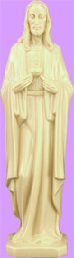 """6""""  Modern Sacred Heart of Jesus Statue is carefully crafted and molded in vinyl with an exclusive process for years of lasting use."""